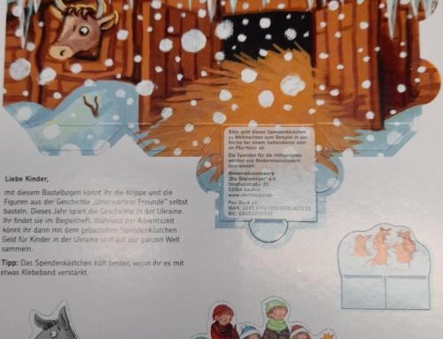 Aktion für Kinder: Bastelkrippen und Spendenkästchen 2020/2021