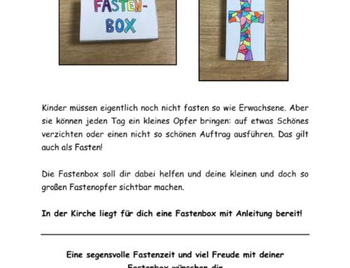 Kinderaktion – Fastenbox für die Fastenzeit